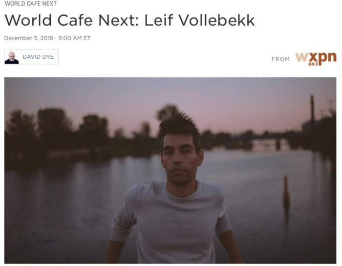 World Cafe Next Leif